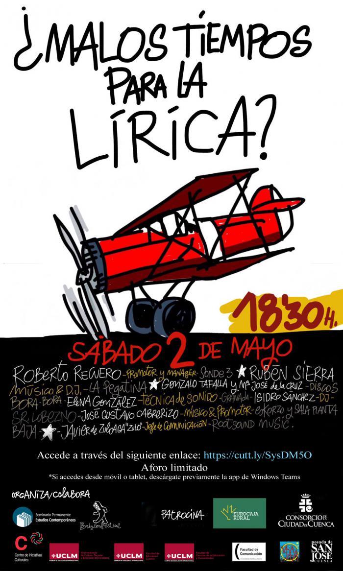 El ciclo 'Malos Tiempos para la Lírica: Radiografía del panorama musical independiente' arranca este sábado de manera virtual