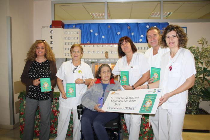 Los celadores del Virgen de la Luz donan el premio logrado en sus Jornadas Nacionales a la Asociación ADEMCU