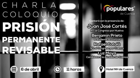 Juan José Cortés participará en la charla coloquio del PP de Cuenca sobre la Prisión Permanente Revisable