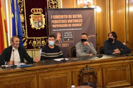 La Diputación presenta el primer Circuito de Retos Pedestres Virtuales para incentivar el deporte en tiempos del Covid