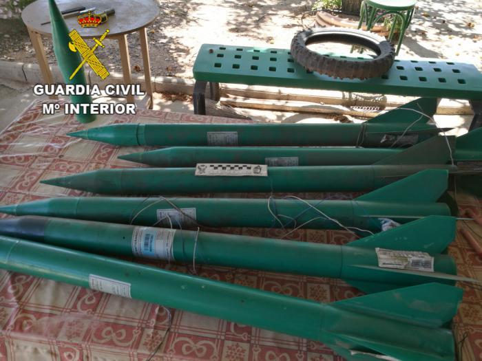 La Guardia Civil destruye siete cohetes antigranizo en Daimiel