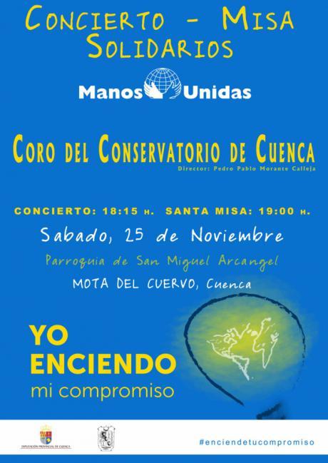 Concierto y Santa Misa cantada del Coro del Conservatorio de Cuenca a favor de Manos Unidas en Mota del Cuervo