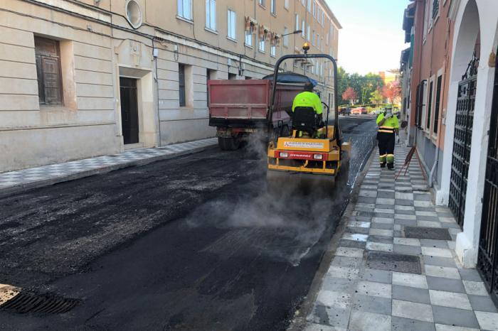 Se han renovado ya 16.400 metros cuadrados de baldosas con el contrato de mantenimiento integral de vías públicas