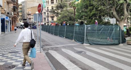 Comienzan las obras de emergencia en la Plaza de la Hispanidad