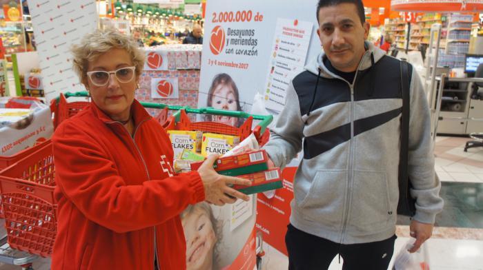 #Reto14.000 desayunos y meriendas #ConCorazón para niñas y niños atendidos por Cruz Roja