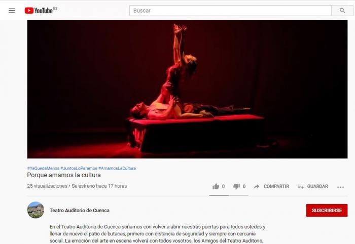 El Teatro Auditorio estrena canal de YouTube