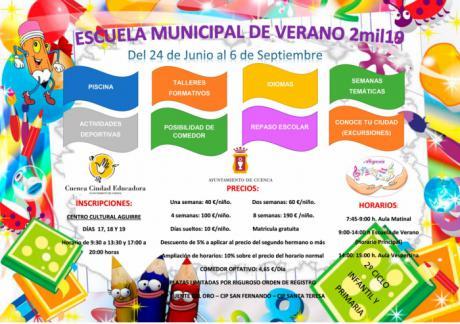 Las solicitudes para la Escuela de Verano se podrán presentar los días 17, 18 y 19 de junio en el Centro Cultural Aguirre