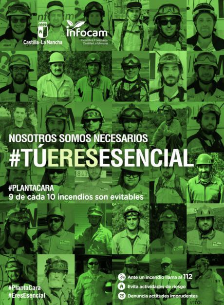 Castilla-La Mancha lanza la segunda fase de la campaña de sensibilización contra incendios forestales destacando la labor imprescindible de los integrantes del dispositivo INFOCAM