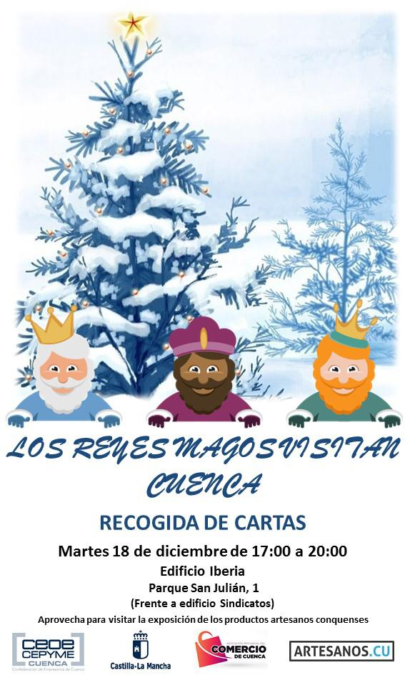 Los Reyes Magos recogerán las cartas de los niños de Cuenca en el Edificio Iberia el martes 18 de diciembre