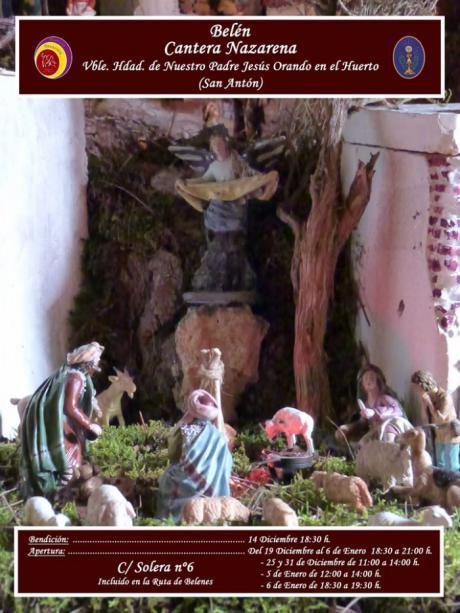 La Cantera Nazarena bendice este sábado el Belén con el que participa en la Ruta de los Belenes 2019