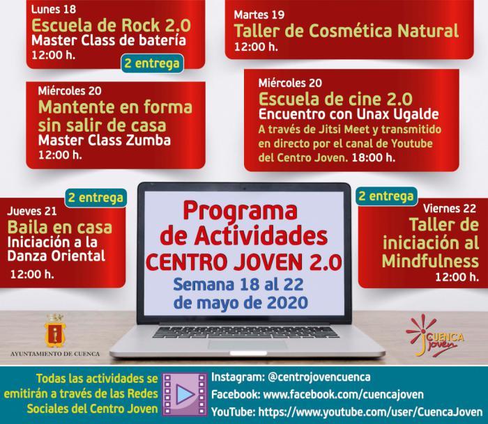 El Centro Joven programa un encuentro con el actor Unax Ugalde y actividades de música, danza oriental, zumba y bienestar
