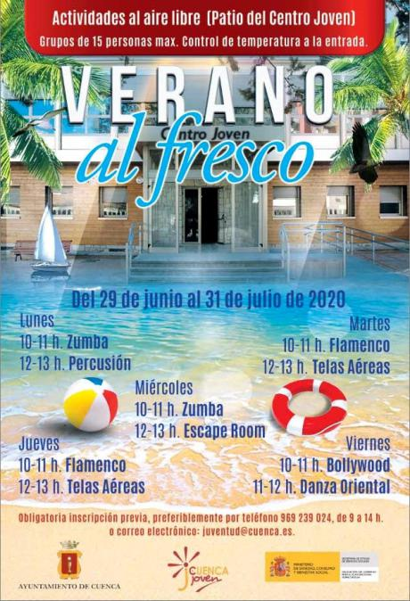 Zumba, percusión, flamenco, telas aéreas, escape room, bollywood y danza oriental en el 'Verano al fresco' del Centro Joven