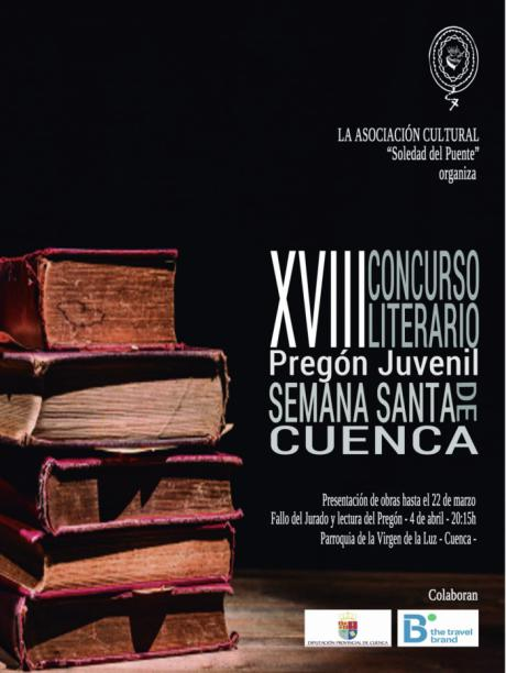 Abierto el plazo de presentación de originales de la XVIII edición del Concurso Literario de la Soledad del Puente