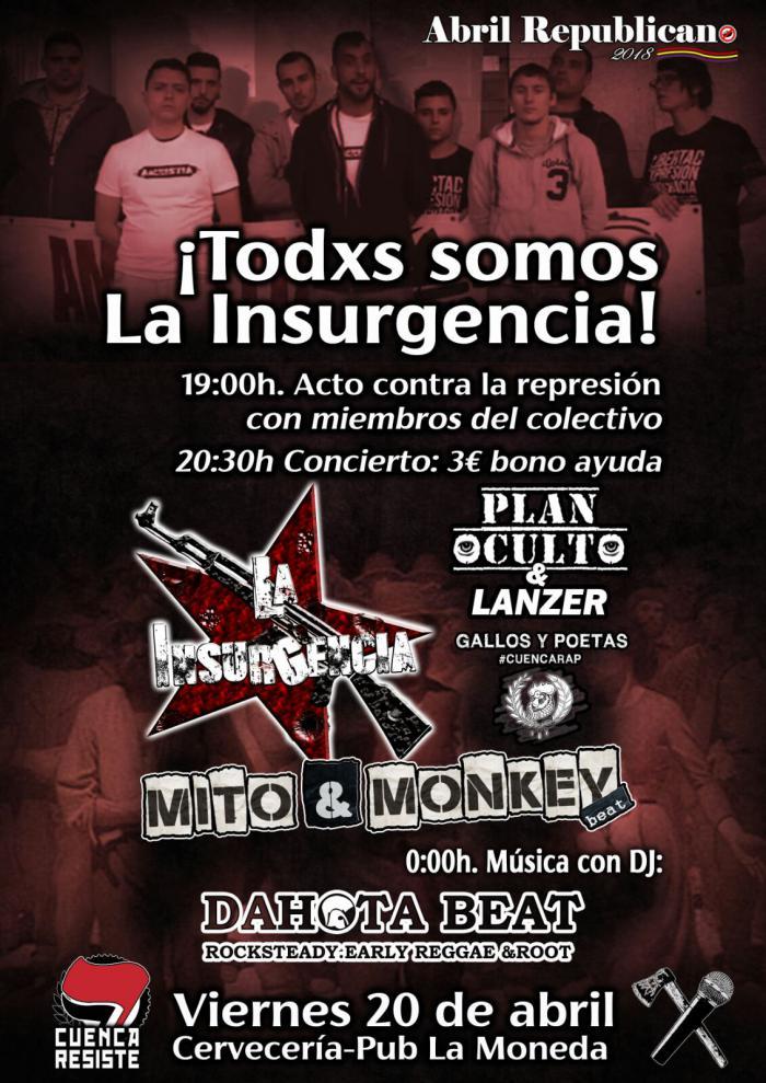 El colectivo de raperos La Insurgencia participará en un acto contra la represión organizado por Cuenca Resiste