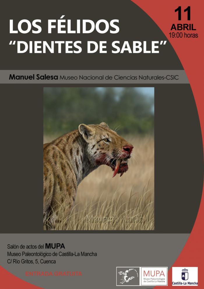 """El Museo de Paleontología acoge el próximo jueves la charla """"Los Félidos, dientes de sable"""""""