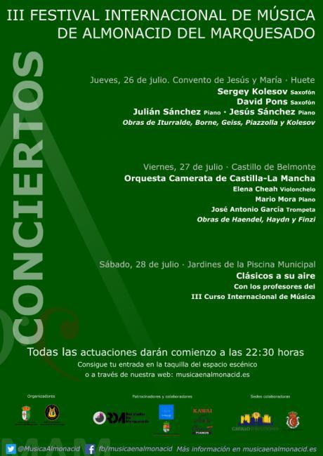Comienza la tercera edición del Festival Internacional de Música de Almonacid del Marquesado