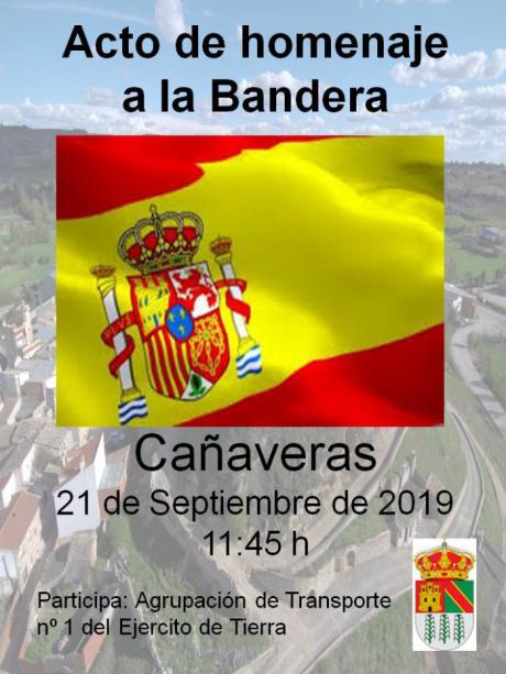 Homenaje a la Bandera el sábado, 21 de septiembre, en Cañaveras