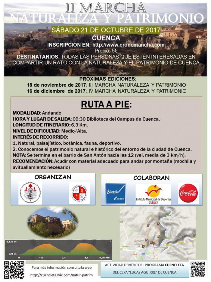 La II Marcha Naturaleza y Patrimonio recorrerá el próximo sábado una ruta de interés deportivo y paisajístico