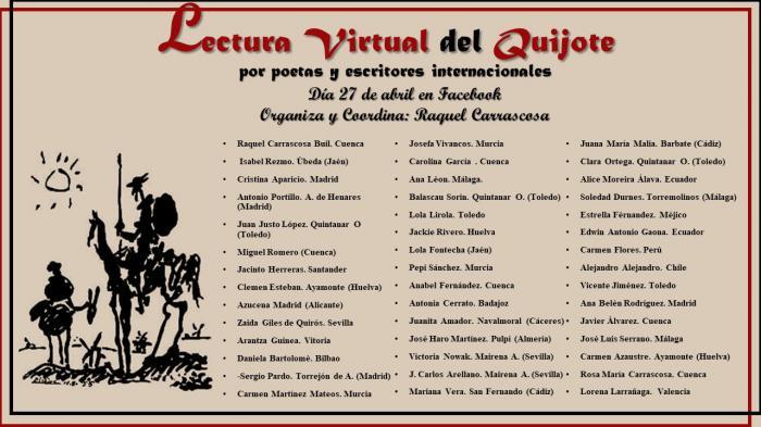 Lectura virtual del Quijote para conmemorar el Día del Libro