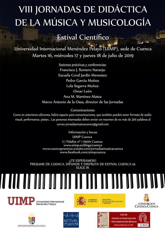 Aplazadas las IX Jornadas de Didáctica de la Música y Musicología de la UIMP