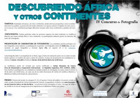 """Convocado el IV Concurso de Fotografía """"Descubriendo África y otros Continentes"""""""