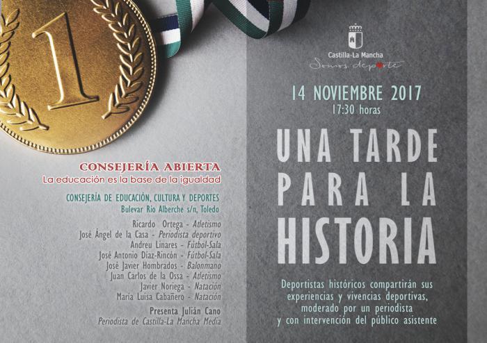 Parte de la leyenda viva de nuestro deporte participará mañana en el debate más ambicioso de Consejería Abierta, 'Una tarde para la historia'