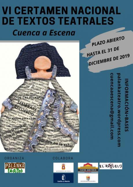 Convocado el sexto certamen nacional de textos teatrales Cuenca a Escena