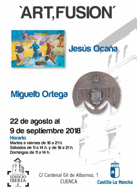 Los artistas Miguel B .Ortega y Jesús Ocaña expondrán a la Sala Iberia hasta el 9 de septiembre
