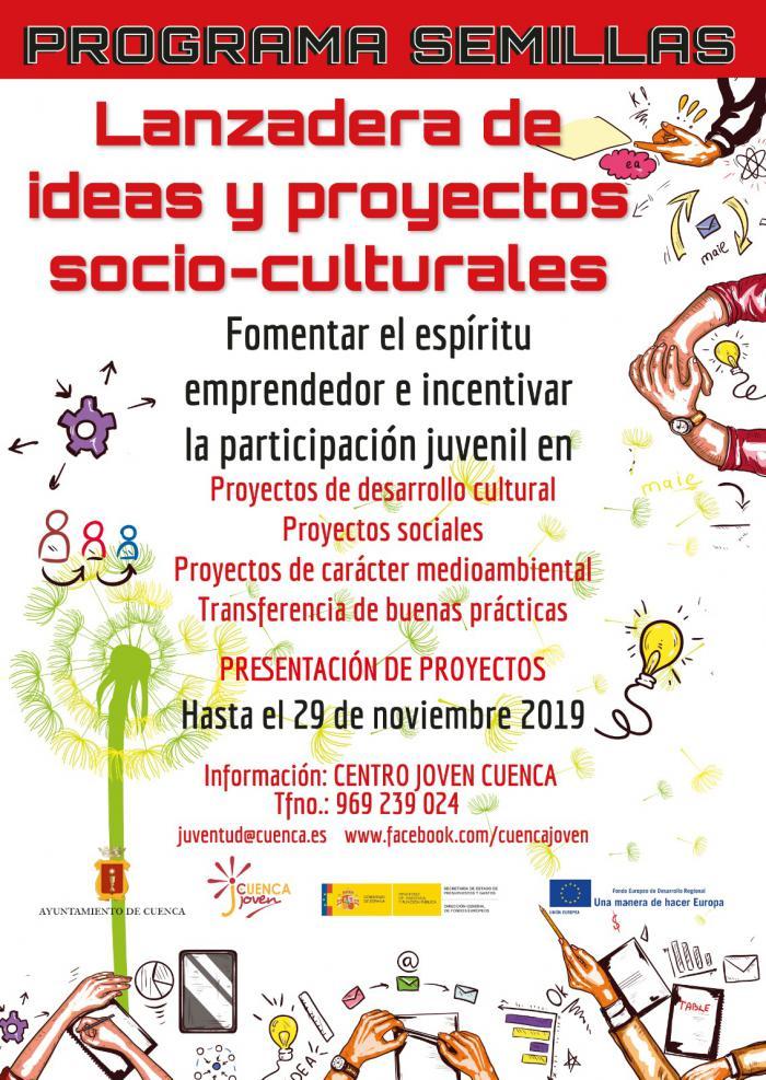 En marcha la nueva edición del Programa Semillas de proyectos socio-culturales de la Concejalía de Juventud