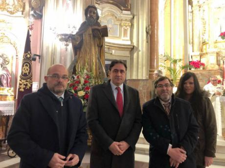 La Corporación Municipal asiste a la misa de San Antón