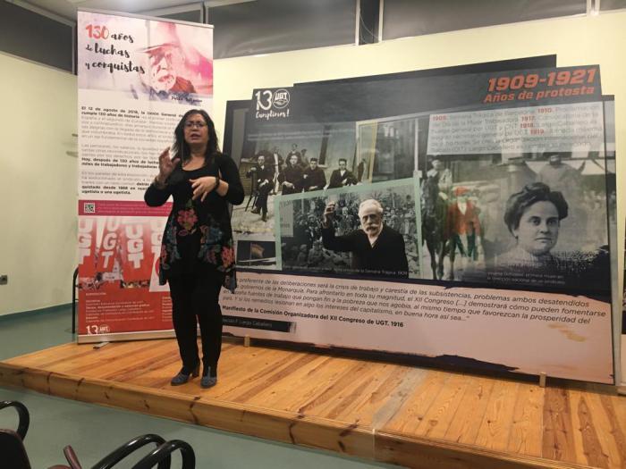 La exposición del 130 aniversario de UGT en Cuenca cierra con 15.000 visitas y un acto por el Día Internacional de la Mujer