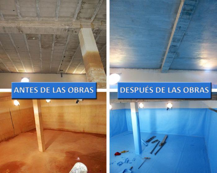 Concluye la impermeabilización del depósito de agua de Barajas de Melo