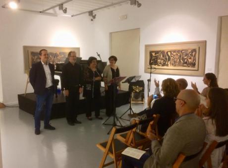 Éxito de público en el concierto celebrado con motivo de la exposición de Pedro Mercedes en Casa Zavala