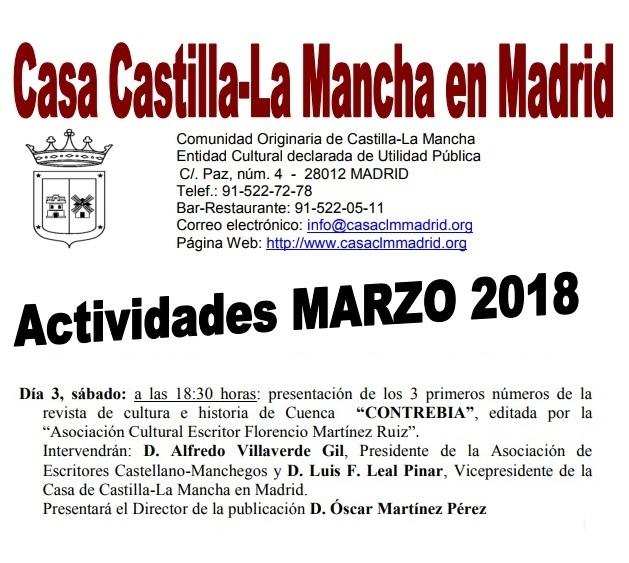 """La revista conquense """"Contrebia"""" se presentará en la Casa de Castilla-La Mancha de Madrid"""