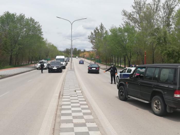 Control de la Policía Local de Cuenca en la Ronda Oeste