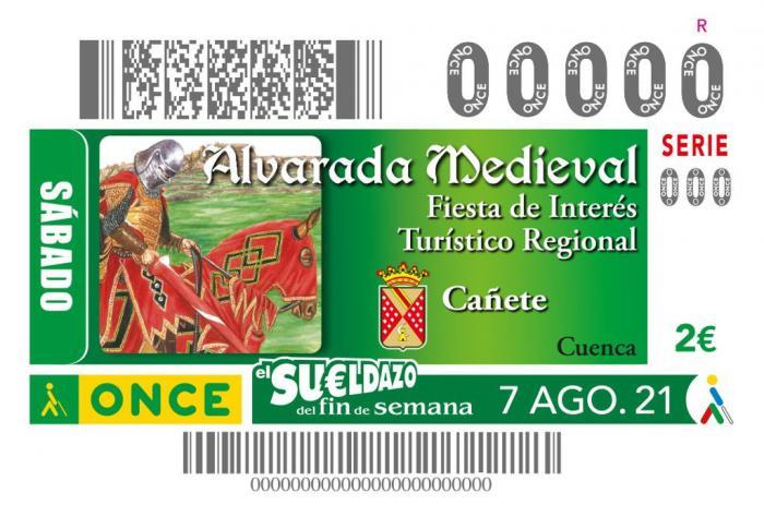 La Alvarada Medieval de Cañete se celebra en el cupón de la ONCE