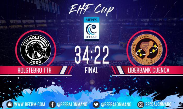 El Liberbank Cuenca se despide de Europa con una derrota de trámite en tierras danesas (34-22)