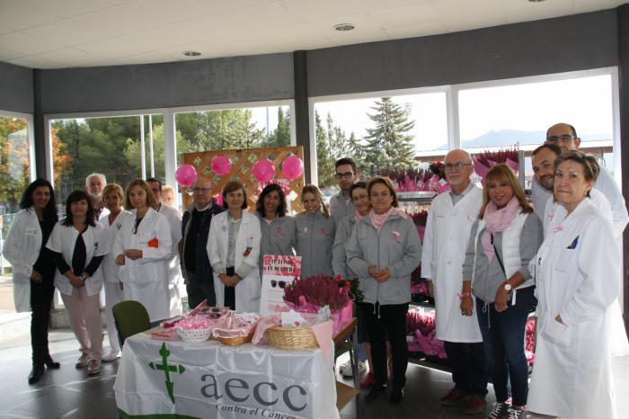 Los profesionales de la Gerencia del Área Integrada de Cuenca y la AECC, unidos contra el cáncer de mama