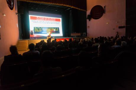 Cayo Lara defiende en Motilla el sistema público de pensiones