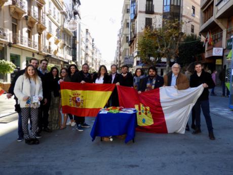NNGG homenaje a la Constitución en Cuenca