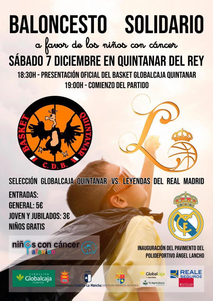 Quintanar del Rey inaugurará el pavimento del pabellón deportivo con un partido con las leyendas del Real Madrid