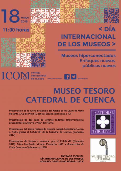 El Museo Tesoro de la Catedral de Cuenca se suma a las celebraciones del 'Día Internacional de los Museos 2018'