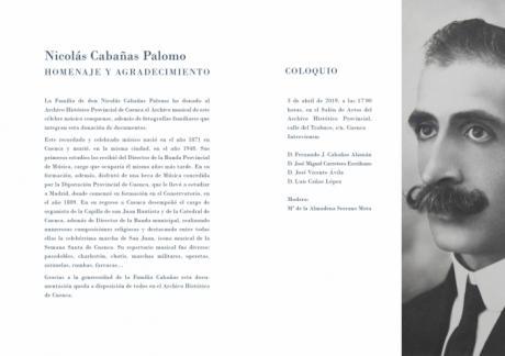 Donan al Archivo Histórico Provincial de Cuenca el legado musical del compositor Nicolás Cabañas