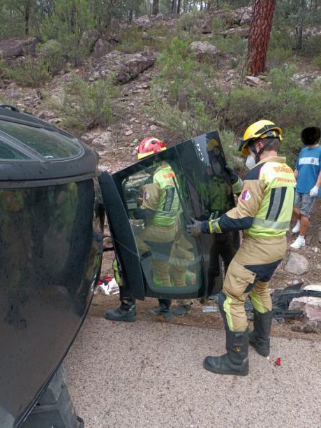 Muere la conductora de un turismo al salirse de la vía en Buendía