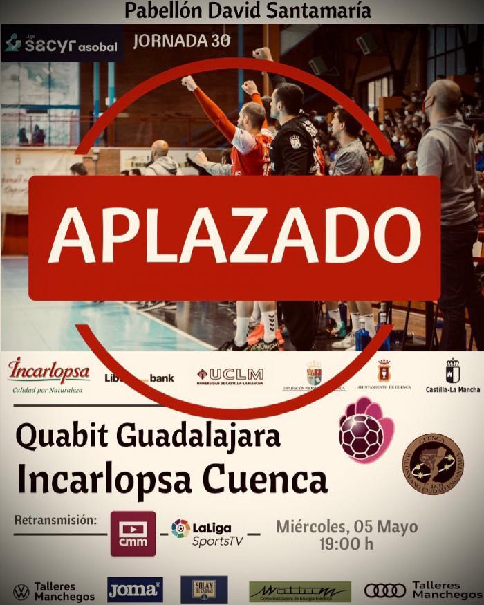 Aplazado el partido entre el Quabit Guadalajara - Incarlopsa Cuenca por un positivo de Covid-19 en el equipo alcarreño