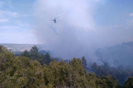 Estabilizado el incendio forestal de Monteagudo de las Salinas