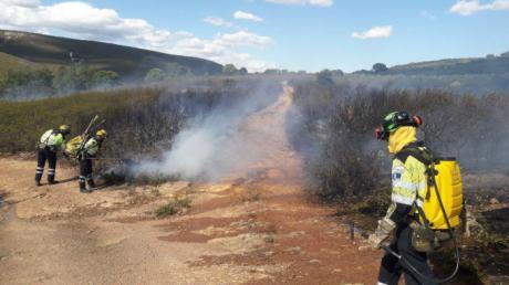 Controlado el incendio forestal de Monteagudo de las Salinas