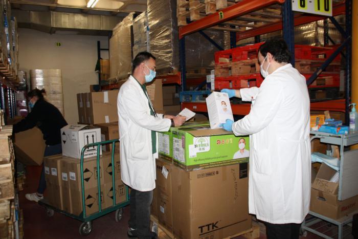 El área de Salud de Cuenca ha recibido otros 2.000 test rápidos para la detección del coronavirus y más de 13.000 artículos de protección