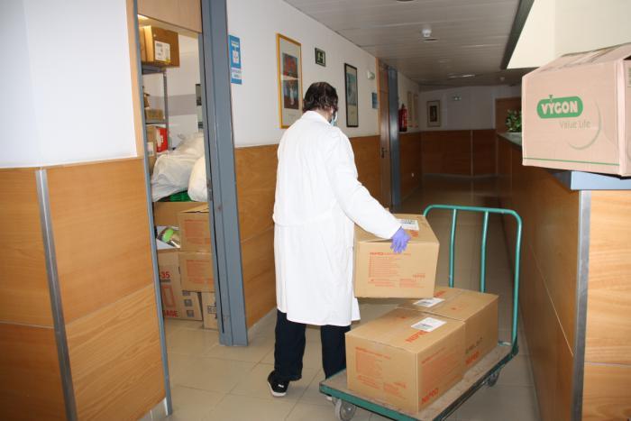 Se distribuyen otros 1.000 test rápidos para el área de Salud de Cuenca y más de 17.000 artículos de protección