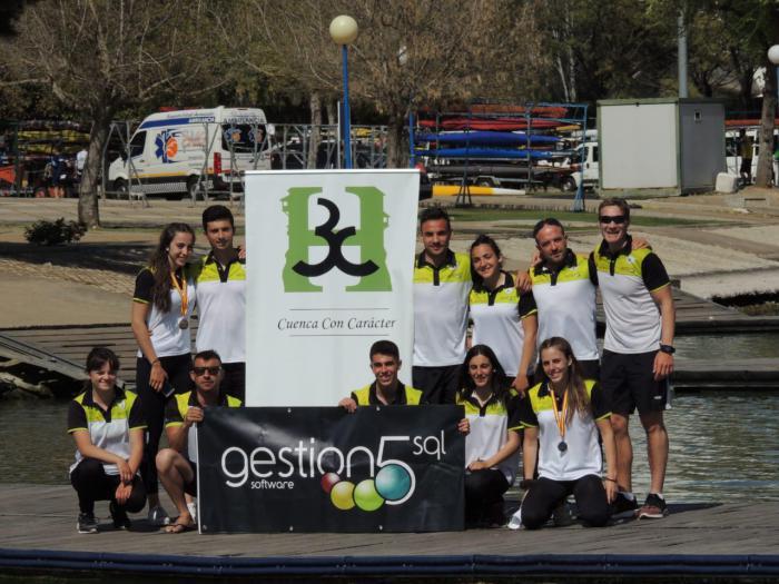 El Club Piragüismo Cuenca con Carácter triunfa en el L Campeonato de España de Piragüismo
